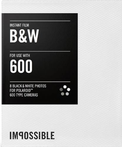 Impossible instant Black/White film for 600-Type Classic Polaroid Cameras